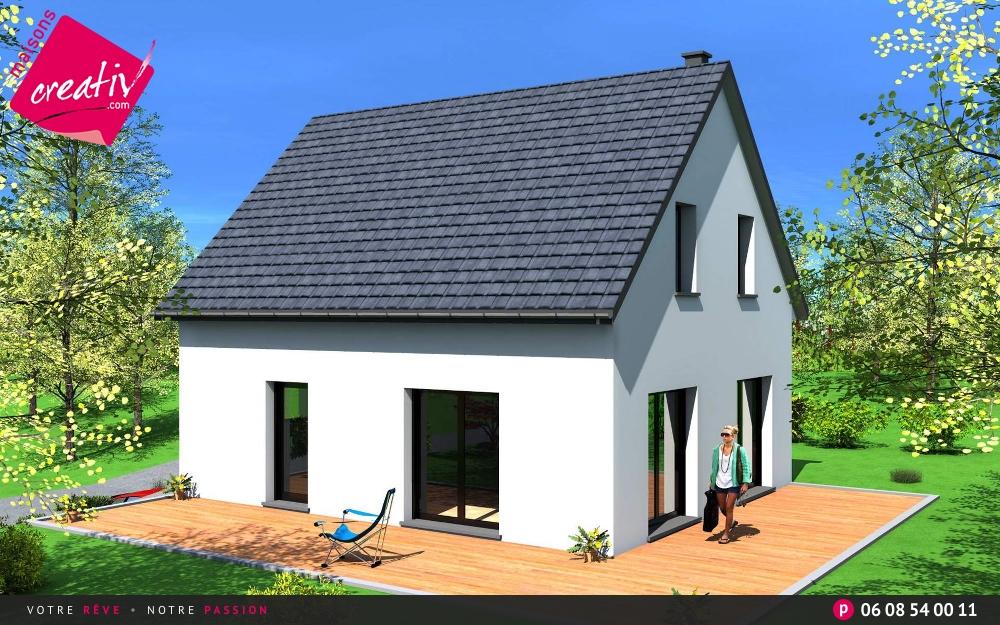 Maison traditionnelle alsace maison contemporaine for Constructeur maison contemporaine haut rhin