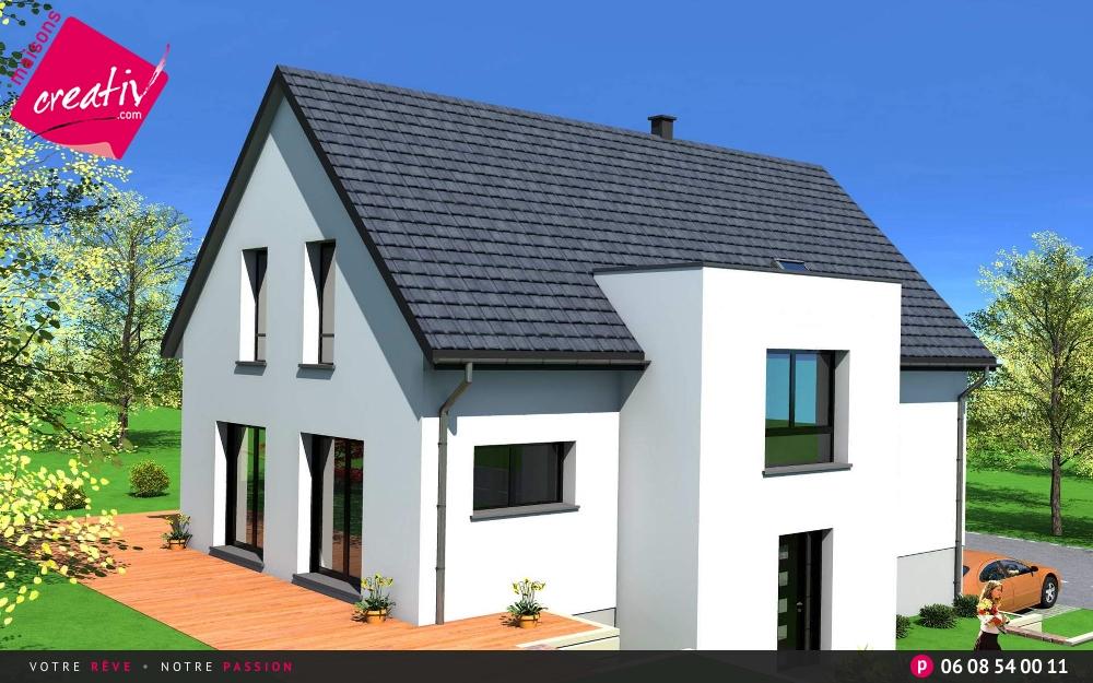 Maison tage entr e demi niveau de maisons creativ camille for Construction maison etage