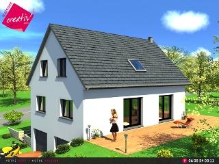 Maison tage entr e demi niveau de maisons creativ marieme for Maison demi niveau toit plat
