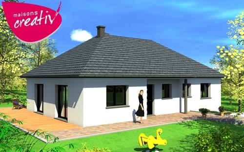 Maison plain pied en alsace marie 100 les plans maisons for Construction plain pied