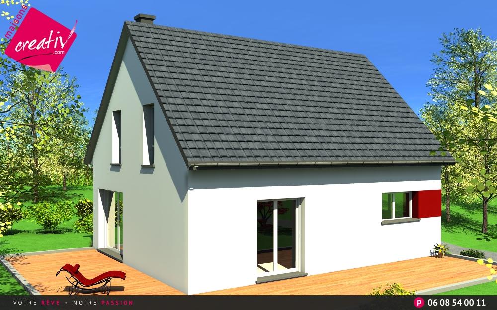 Maisons creativ best full size of moderne und maison cle for Prix construction maison alsace