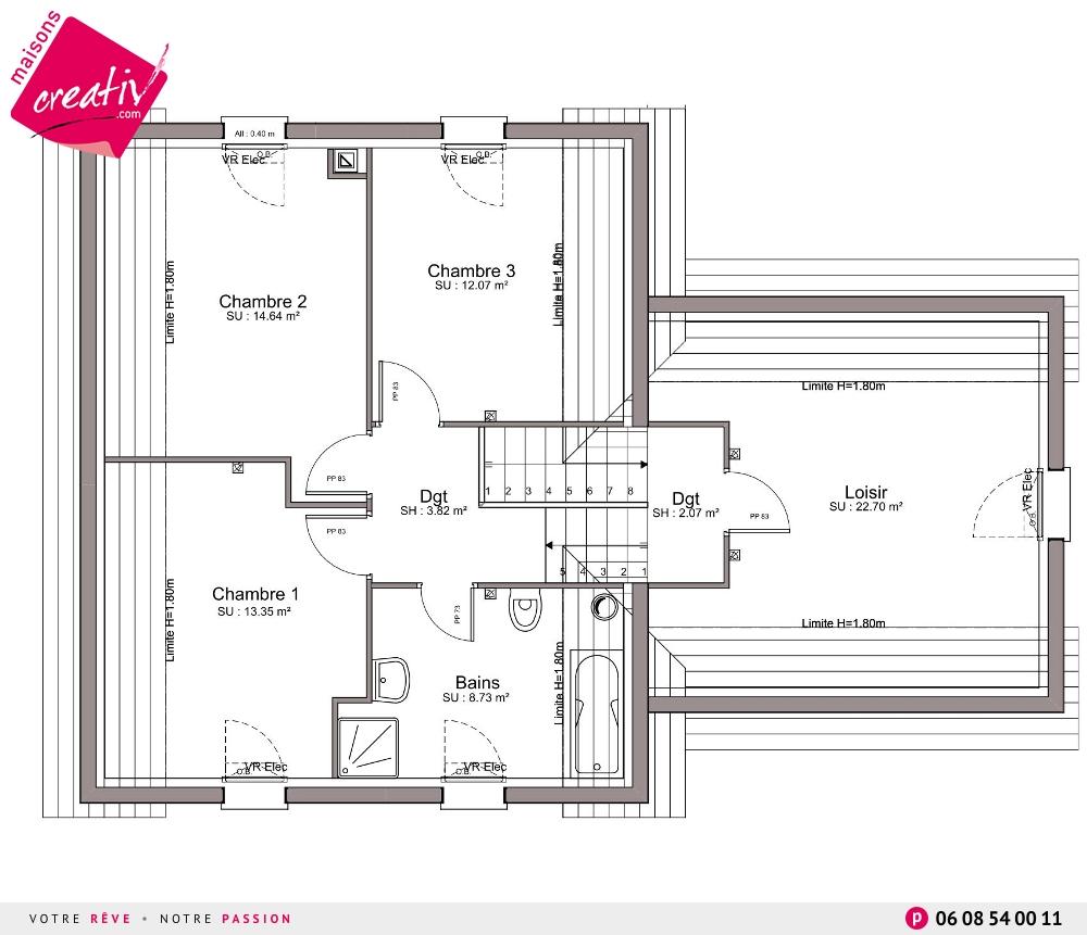 Les r alisations et les plans maisons alsace elodie for Assurance maison en cours de construction