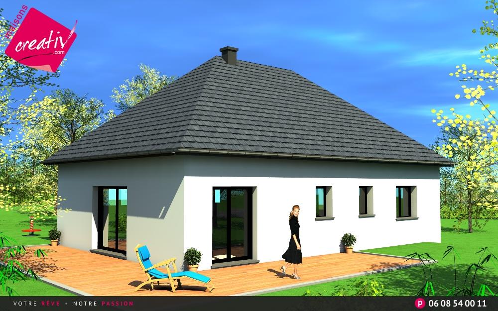 Maison plain pied en alsace audrey les plans maisons creativ - Hauteur maison plain pied ...