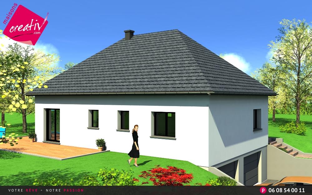 Maison plain-pied en Alsace Audrey : les plans Maisons Creativ