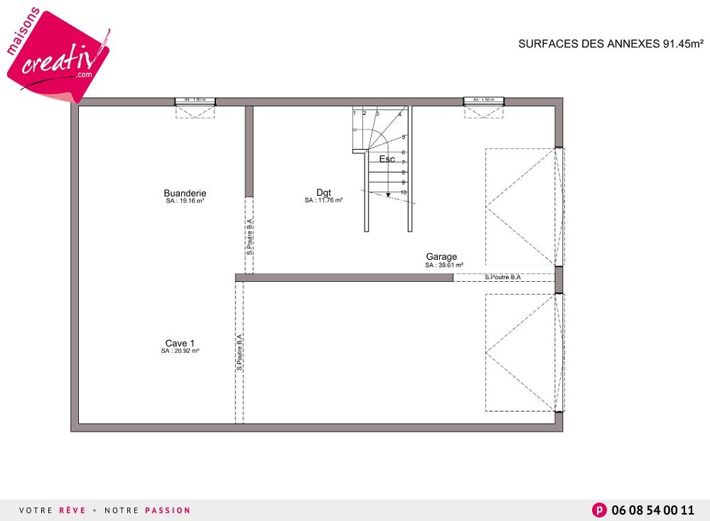 plein pied 3 chambres plan maison 100m2 plein pied 3 pictures to pin maison - Plan Maison 90m2 Plain Pied 3 Chambres