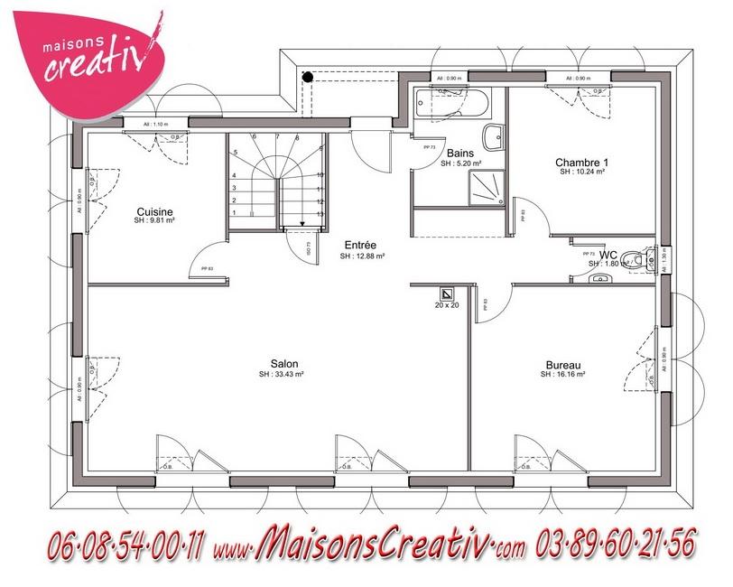 Maison plain pied essonne maison moderne for Prix construction maison plain pied 80m2