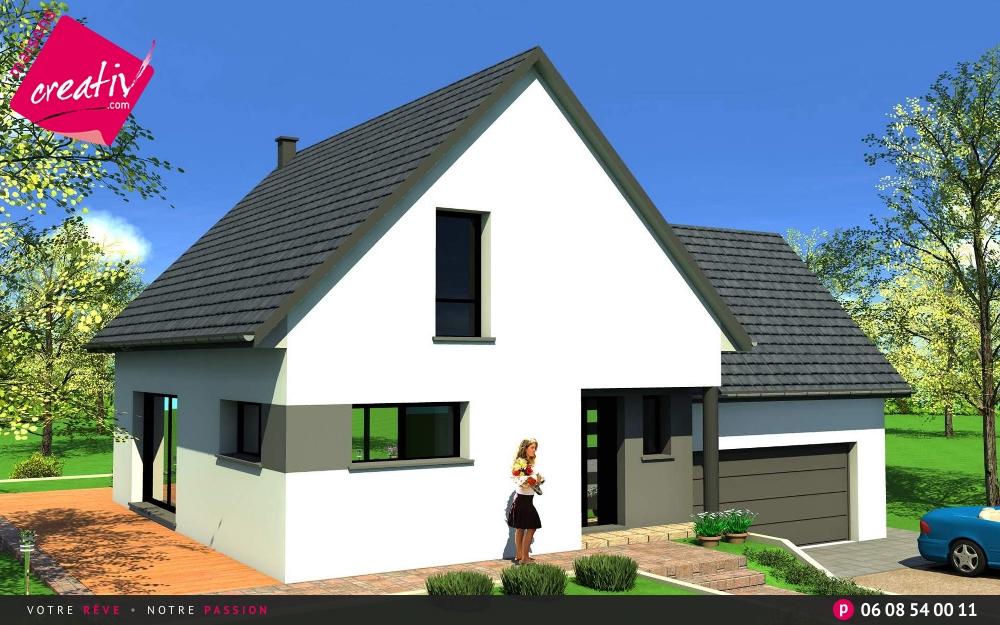 prix maison alsace devis maison individuelle lauriane maisons creativ. Black Bedroom Furniture Sets. Home Design Ideas