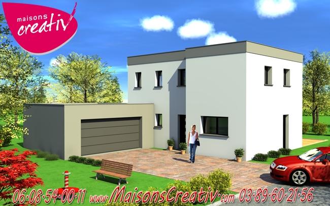 Prix maison alsace devis maison individuelle laurine maisons creativ for Maison toit plat alsace