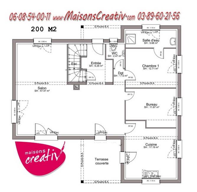 eliane 6 eliane 7 - Plan Maison Plain Pied 200m2