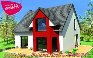 Maison tage 5 pi ces de maisons creativ for Maison avec bow window