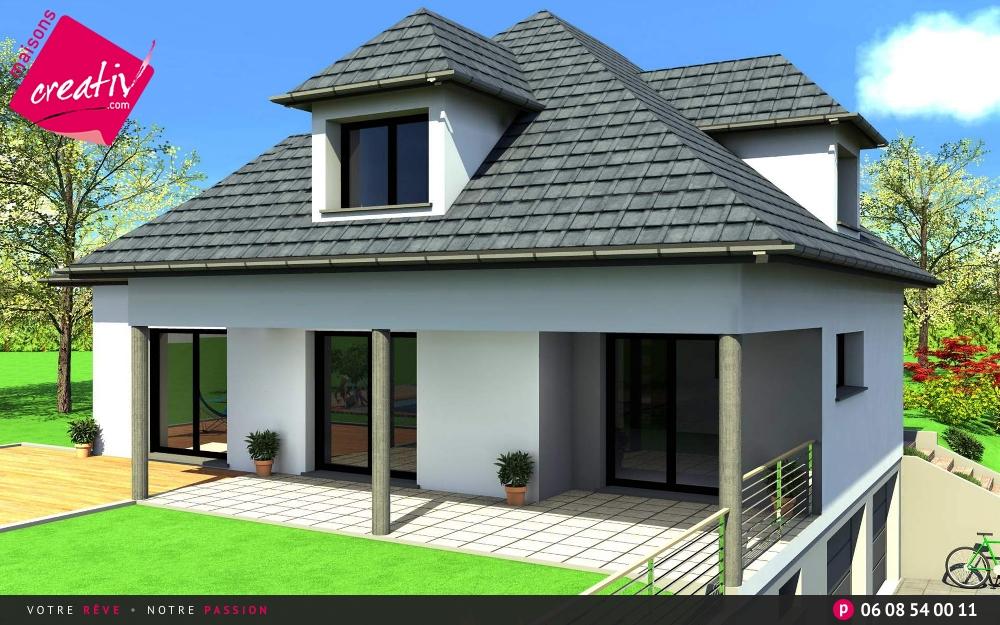 Maison plain-pied en Alsace Zoe : les plans Maisons Creativ