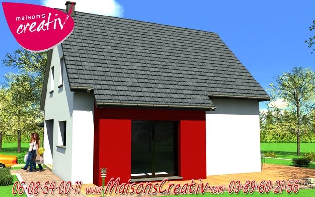Maison toit plat alsace for Constructeur maison contemporaine haut rhin