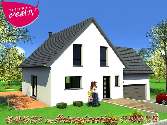 Maison traditionnelle alsace maison contemporaine for Construction maison 89
