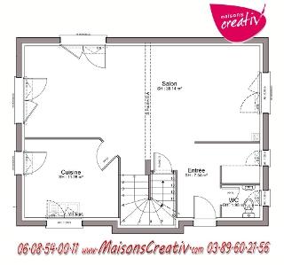 Maison tage 5 pi ces de maisons creativ emmy for Garage toyota haut rhin
