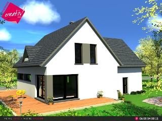 maison cl en main alsace les maisons t moin maisons creativ. Black Bedroom Furniture Sets. Home Design Ideas