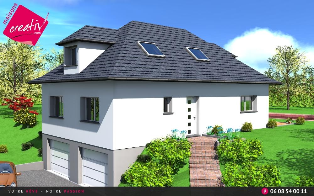 Maison plain pied en alsace lily les plans maisons creativ for Maison plain pied alsace