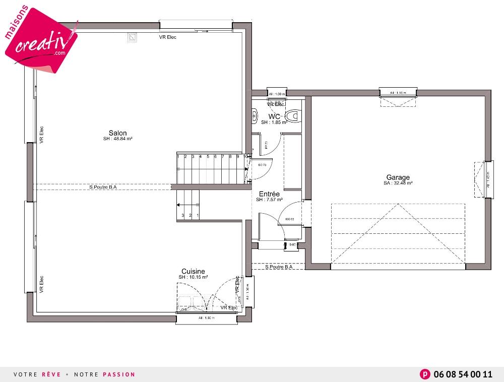 Nos maisons avec garage attenant de plus de 140m en for Plan maison haut de gamme
