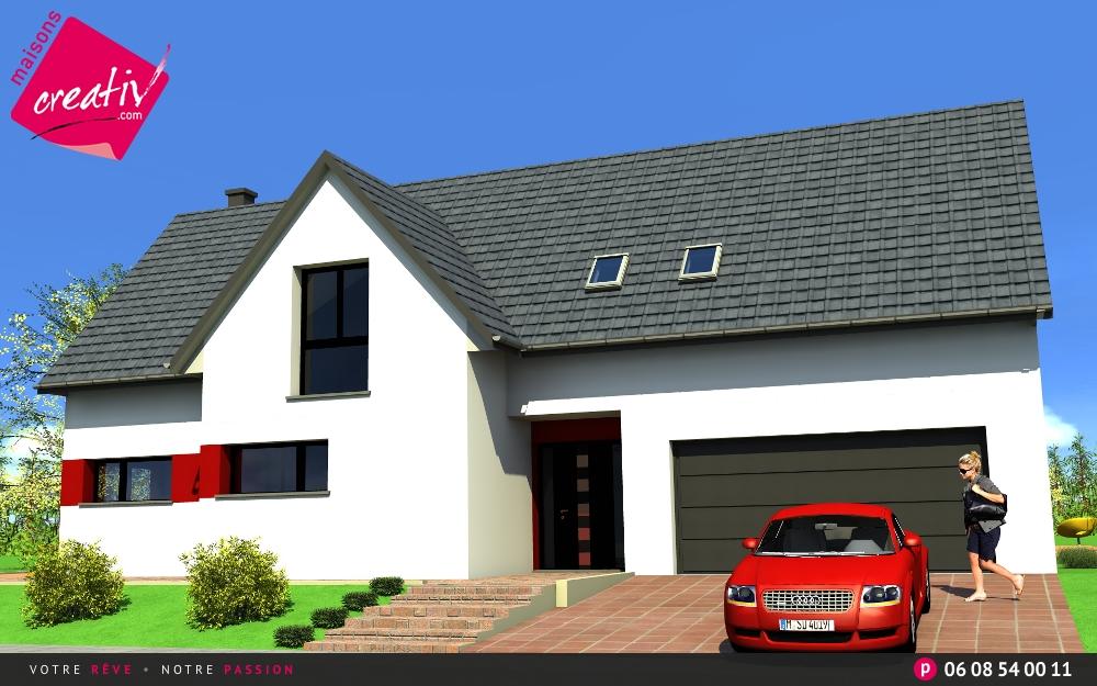 Nos maisons avec garage attenant de plus de 140m en for Garage volkswagen haut rhin